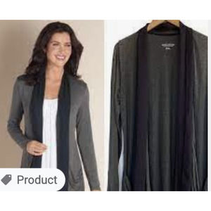 Soft Surroundings Open Front Scarf Cardigan